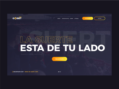 Landing page for sports betting site. navy blue gold uiux uidesign web design betting sports
