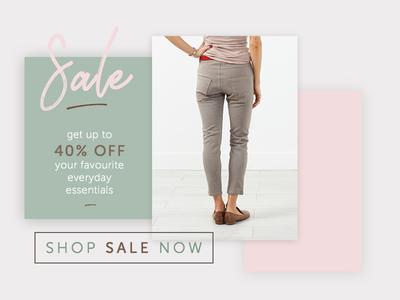 Layered Sale Banner sale feminine layout practice ui ecommerce