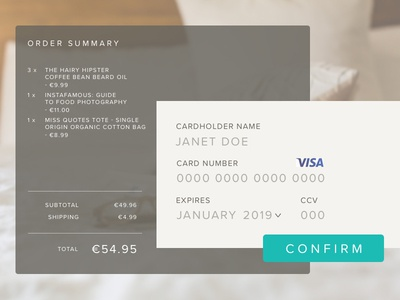 Daily UI Challenge - Day2 - Credit Card Checkout checkout 002 dailyui