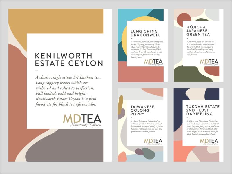 Labels For New Single Origin Tea Range ecommerce tea label design packaging design illustration design