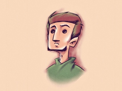 Halftone brushes cartoon 2d potrait procreate brush halftone character illustration