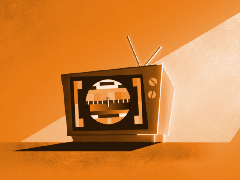 Tuesday without signal in 90s memory childhood nosignal 2d illustration tuesday old tv