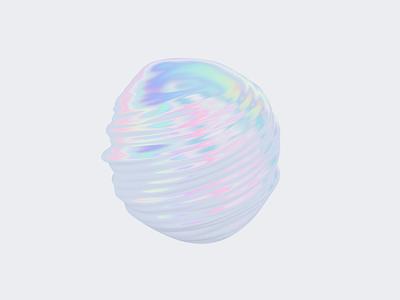 Holo motion design clean cinema 4d logo illustration blob holographic holo bubble octanerender octane c4d 3d