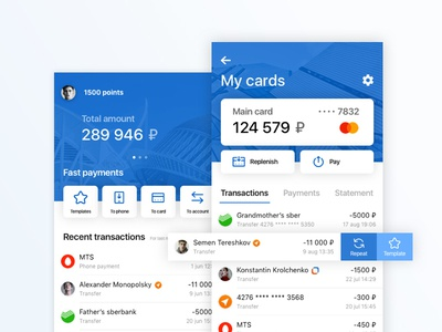 Concept of the banking app