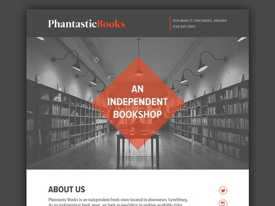 Phantastic Books Web Concept