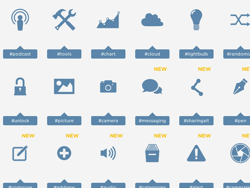 Just a Few Icons icons svg icon design freebie