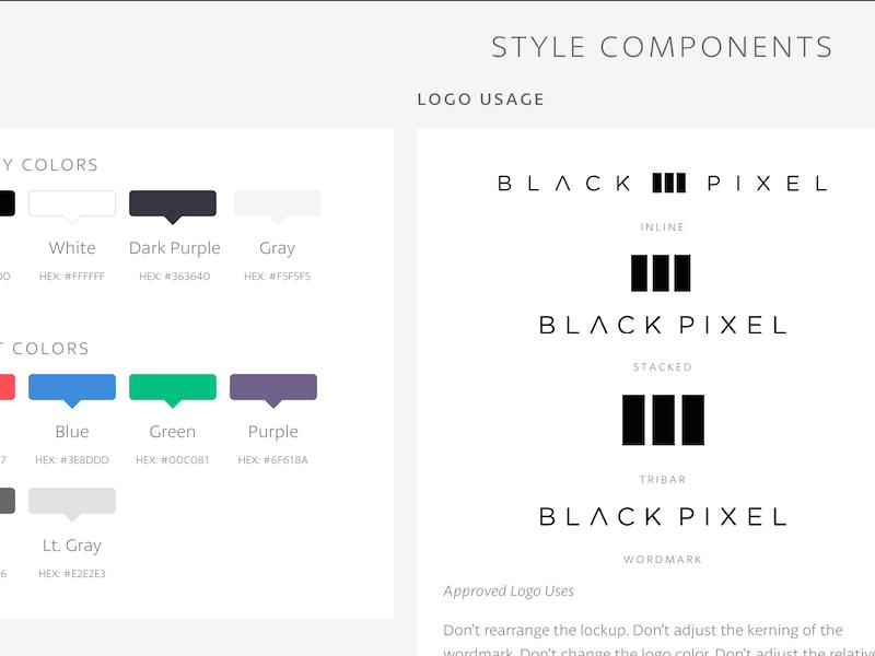 BPXL Brand Styleguide wip styleguide