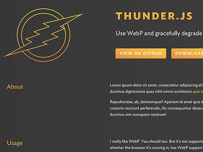 Thunder.js buttons gradients ideal sans wip