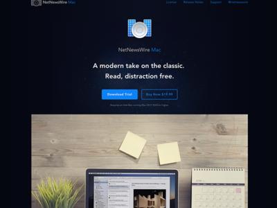 New NetNewsWire Mac Offering Page