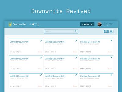 Downwrite Revived web markdown whitney ui