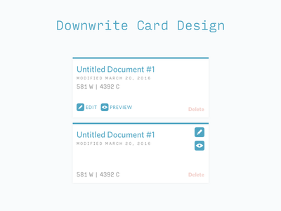 Downwrite Card Design ui web card design
