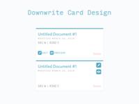 Downwrite Card Design