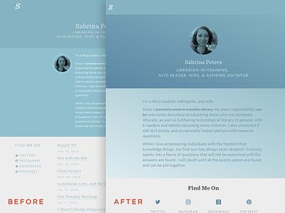 Sabrina's Blog gradients typography blog