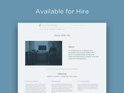 Hire Me web hire available