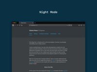 Personal Site with a Night Mode