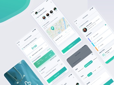 Care App healthy doctor pay health android ui  ux design app apps application ux app uiux ui