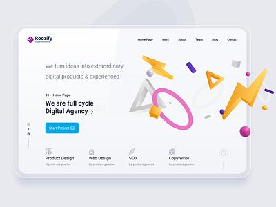 Roozify Digital Marketing Website agency branding product seo web ui agency website agency digital