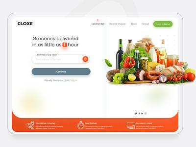 E-commerce / Marketplace food ecommerce web delivery shopping store marketplace market uiux