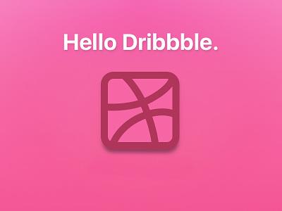 Dribbble Thank You hello dribble dribbble
