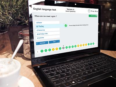 Online Quiz site template page concept design page template online test quiz