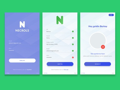 Necrols - Series app login page design