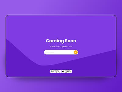 Coming soon page redesign ui ui design design ux page app design ux design design concept page design illustration dribbble abilov