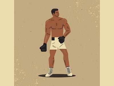 Muhammad Ali muhammad ali boxing retro vintage vectorart artist design illustrator graphicdesign digitalart digitaldesign vector illustration