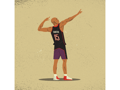 Vince Carter screen printing texture basketball vince carter nba retro vintage vectorart artist design illustrator graphicdesign digitalart digitaldesign vector illustration