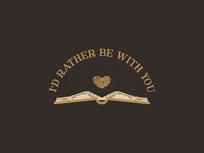 I'D Rather Be With You books book retro vintage vectorart artist design illustrator graphicdesign digitalart digitaldesign vector illustration
