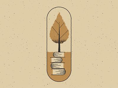 Growth books growth retro vintage vectorart artist design illustrator graphicdesign digitalart digitaldesign vector illustration
