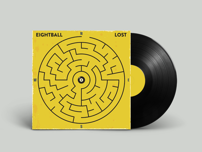 8Ball - Lost hiphop vinyl retro vintage vectorart artist design illustrator graphicdesign digitalart digitaldesign vector illustration