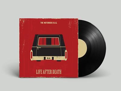 Biggie - Life After Death hiphop vinyl album cover biggie vintage retro vectorart artist design illustrator graphicdesign digitalart digitaldesign vector illustration
