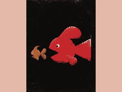 Survival Of The Fittest japan fish logo vectorart design artist illustrator graphicdesign digitalart digitaldesign illustration vector