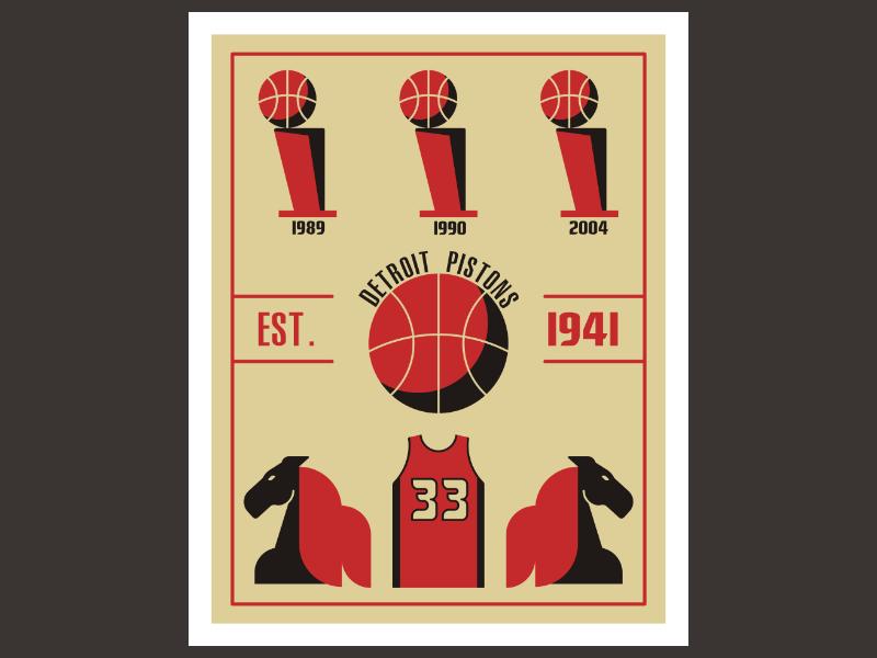 huge selection of e3299 3e0ec Detroit Pistons Retro Edition Vol.1 by Amer Karic on Dribbble
