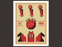 Detroit Pistons Retro Edition Vol.1