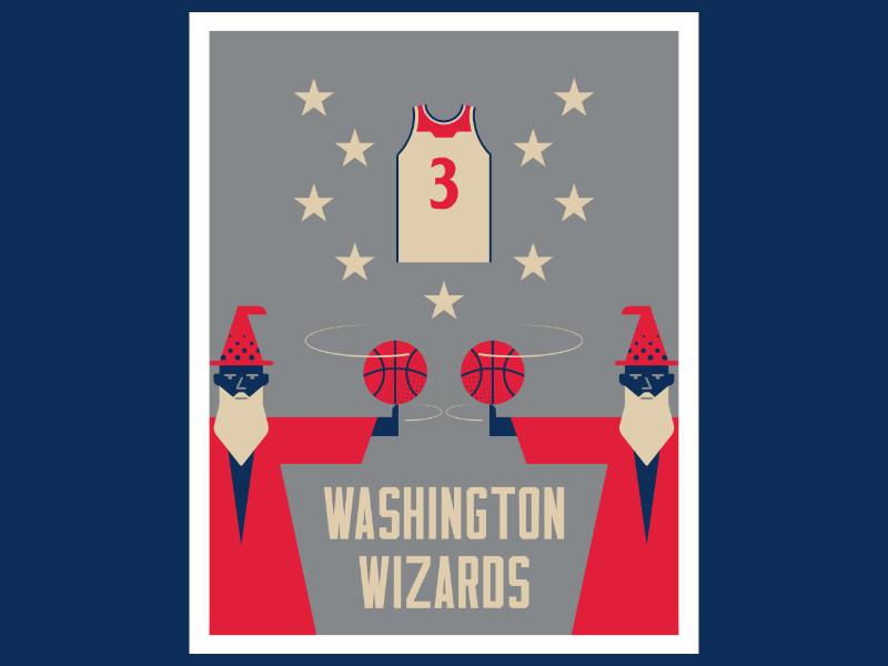 Washington Wizards basketball nba poster washington wizards logo design artist illustrator graphicdesign digitalart digitaldesign illustration vector