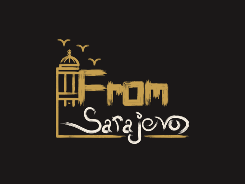 From Sarajevo sarajevo lettering typography retro mark vectorart artist design illustrator graphicdesign digitalart digitaldesign vector illustration
