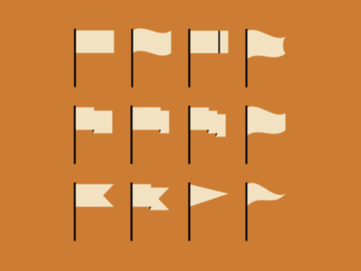 12 Vector Flags