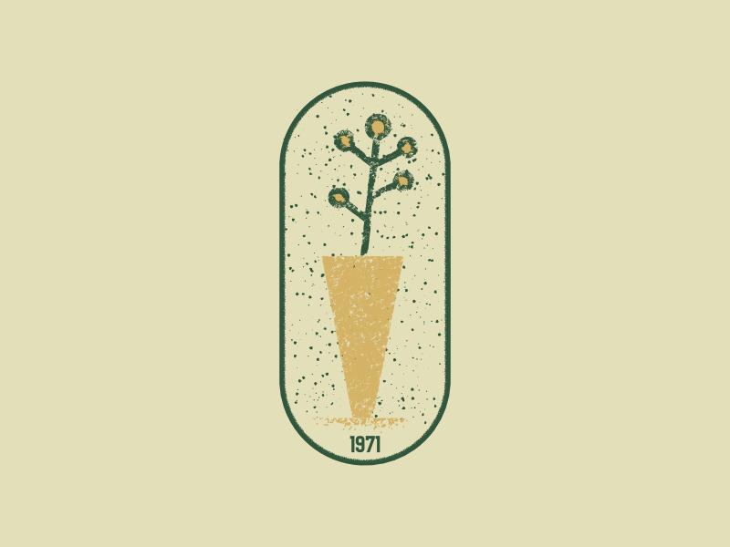 Plant Care 1971 plant vintage retro logodesign mark logo artist design illustrator graphicdesign digitalart digitaldesign vector illustration