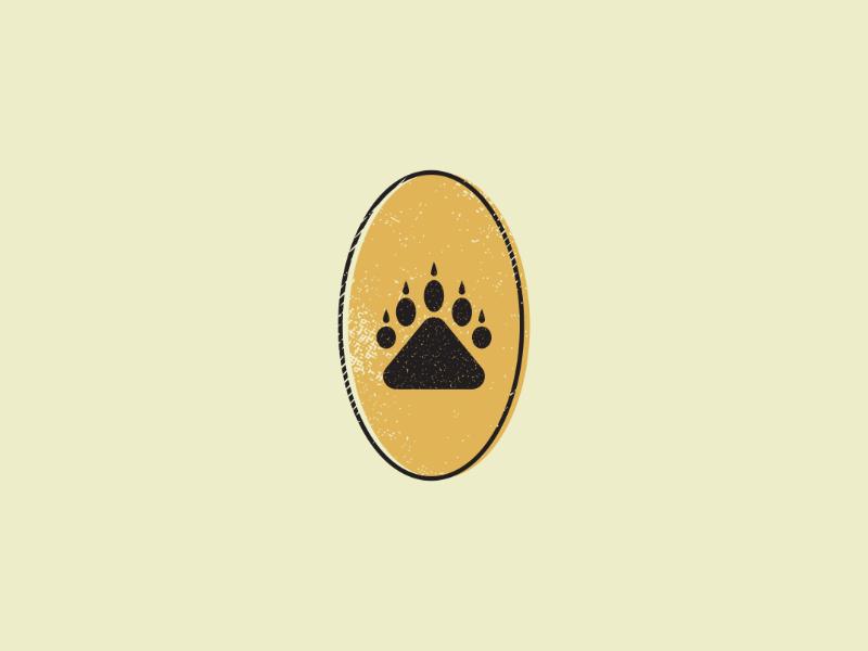 Bear Paw bear branding vintage retro logos logodesign mark logo artist design illustrator graphicdesign digitalart digitaldesign vector illustration