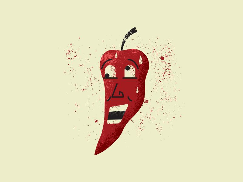 Red Pepper peppers art vintage retro vectorart artist design illustrator graphicdesign digitalart digitaldesign vector illustration