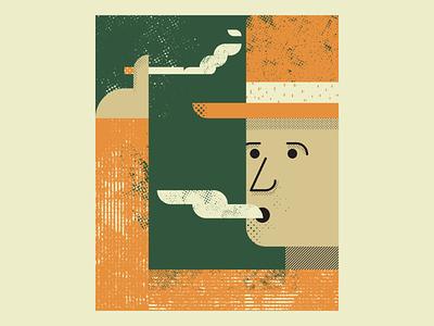Smoker smoker vectorart vintage retro artist design illustrator graphicdesign digitalart digitaldesign vector illustration