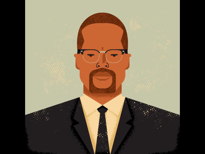 El-Hajj Malik El-Shabazz aka Malcolm X activist black people malcolm x art vintage retro vectorart artist design illustrator graphicdesign digitalart digitaldesign vector illustration