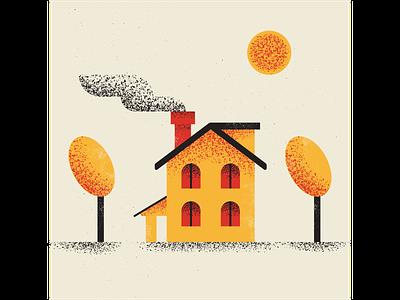 House house vintage retro vectorart artist design illustrator graphicdesign digitalart digitaldesign vector illustration