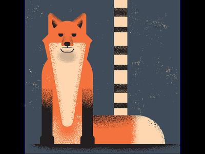 Fox fox retro vintage vectorart artist design illustrator graphicdesign digitalart digitaldesign vector illustration
