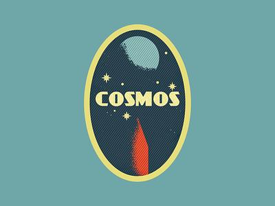 Cosmos patch rocket space cosmos vintage retro vectorart artist design illustrator graphicdesign digitalart digitaldesign vector illustration