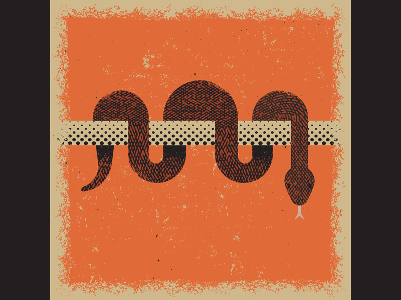 Snake texture snake retro vintage vectorart artist design illustrator graphicdesign digitalart digitaldesign vector illustration
