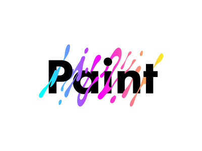 Paint - 1 Hour Logos - Thirty Logos Challenge Day 9 paint app logo design thirty logos paint logo app logo splash logo splash paint logo branding brand