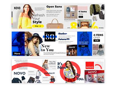 Novo Stylescapes - Brand Identity Design clothes fashion clothing stylescapes styletile logo identity stylescape branding brand