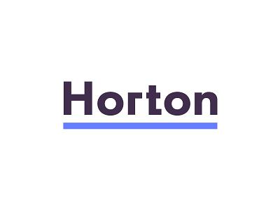 Horton Auto Body and Paint Logo Concept horton logotype wordmark car repair auto logo car logo logo concept logo